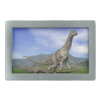 Argentinosaurus dinosaurs - 3D render Belt Buckles