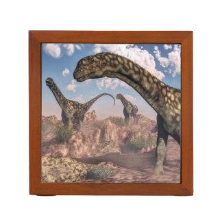 Argentinosaurus dinosaurs - 3D render Desk Organizer