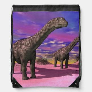 Argentinosaurus dinosaurs - 3D render Drawstring Bag