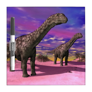 Argentinosaurus dinosaurs - 3D render Dry Erase White Board