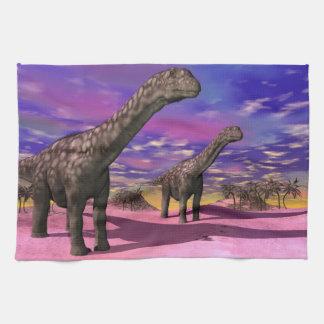 Argentinosaurus dinosaurs - 3D render Kitchen Towel