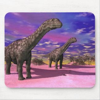 Argentinosaurus dinosaurs - 3D render Mouse Pad