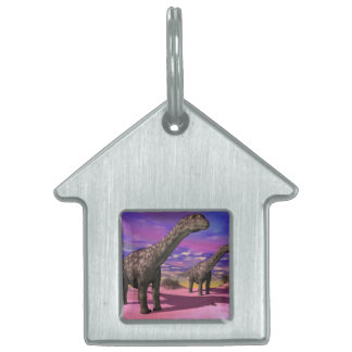 Argentinosaurus dinosaurs - 3D render Pet Name Tags