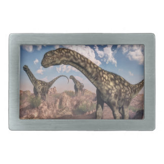 Argentinosaurus dinosaurs - 3D render Rectangular Belt Buckle