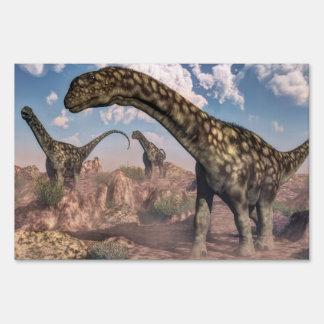Argentinosaurus dinosaurs - 3D render Sign