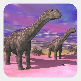 Argentinosaurus dinosaurs - 3D render Square Sticker