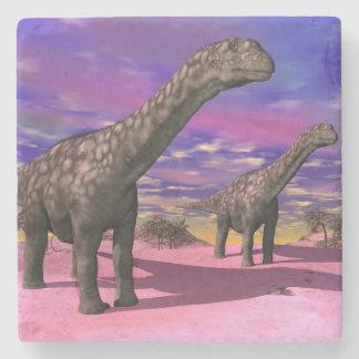Argentinosaurus dinosaurs - 3D render Stone Coaster