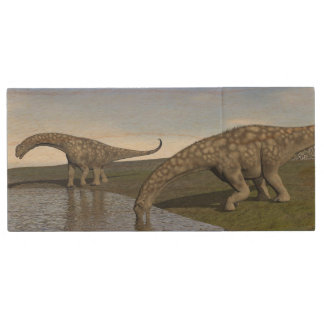 Argentinosaurus dinosaurs - 3D render Wood USB Flash Drive