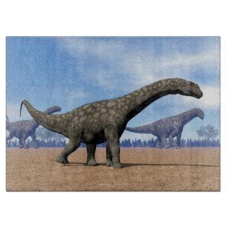 Argentinosaurus dinosaurs walk - 3D render Cutting Board