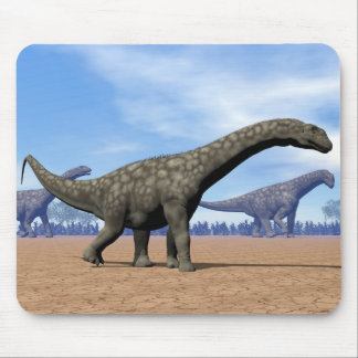 Argentinosaurus dinosaurs walk - 3D render Mouse Pad