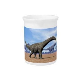 Argentinosaurus dinosaurs walk - 3D render Pitcher