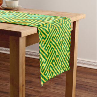 Argos Green Gold Short Table Runner