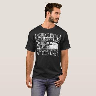 Arguing With Political Science Major LikeWrestling T-Shirt