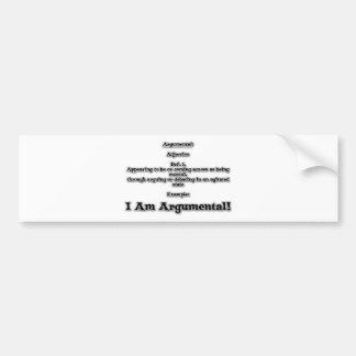 Argumental Bumper Sticker