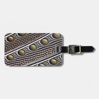 Argus Pheasant feather close-up Luggage Tag