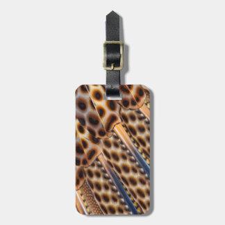 Argus Pheasant Feather Design Luggage Tag
