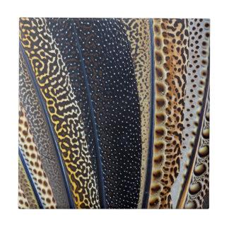 Argus Pheasant wing feathers Ceramic Tile
