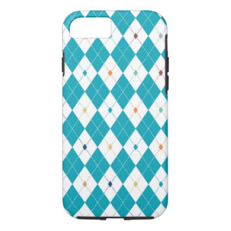 Argyl in Scuba Blue with Multi-Color accents iPhone 7 Case