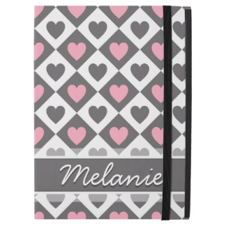 Argyle and Hearts Pattern with Name