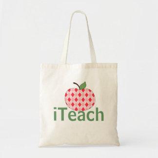 Argyle Apple iTeach Teacher's Tote Bag