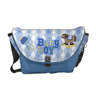 Argyle Baby Diaper Messenger Bag