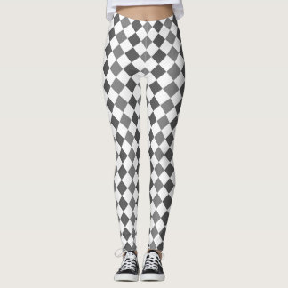 Argyle Beauty - Black and White Leggings