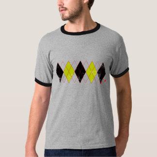 argyle black yellow T-Shirt