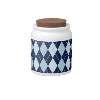 ARGYLE BLUE CANDY JAR