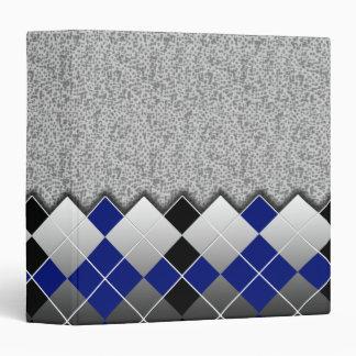 argyle blue vinyl binders