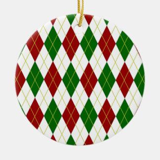 Argyle Ceramic Ornament