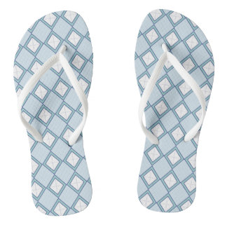 Argyle/Diamond Blue Flip Flops