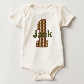 Argyle First Birthday Boy Shirt