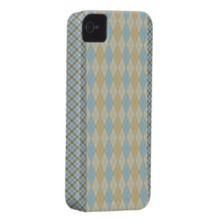 Argyle for Dad Muted Blue iPhone 4 Case-Mate Case