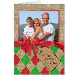 Argyle Holiday Photo Card