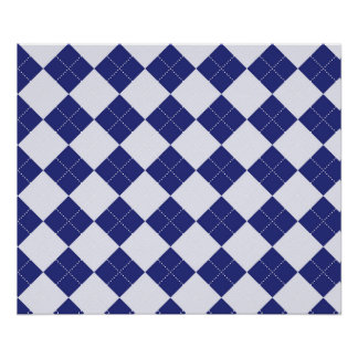Argyle in Blues Poster