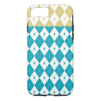 Argyle in Scuba Blue and Custard Yellow iPhone 7 Case