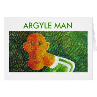 ARGYLE MAN CARD