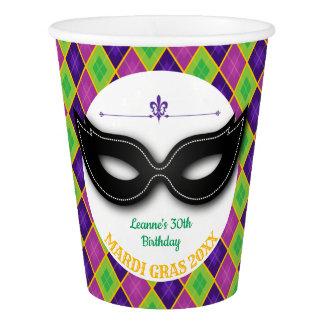 Argyle Mardi Gras Party Paper Cup