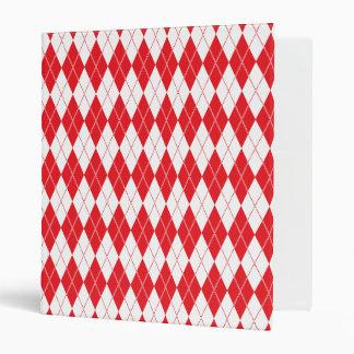 Argyle Pattern 1 Red Binders