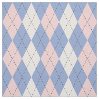 Argyle Pattern In Rose Quartz & Serenity Fabric