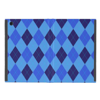Argyle pattern in shades of blue beautiful case for iPad mini