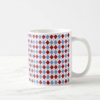 Argyle Pattern Mug