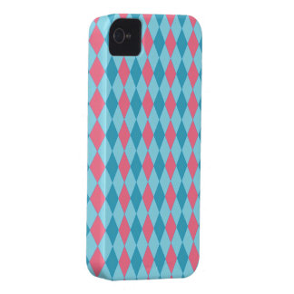 Argyle Pink Blue iPhone 4 Case-Mate Cases