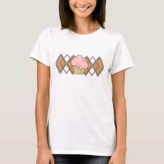 Argyle Pink Cupcake T-Shirt