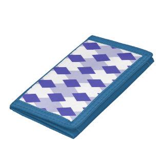 Argyle Plaid Pattern_4A46B0 Tri-fold Wallet