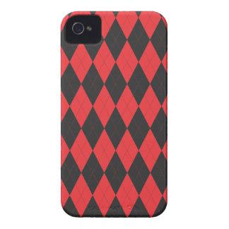 Argyle Red and Black Design Blackberry Case