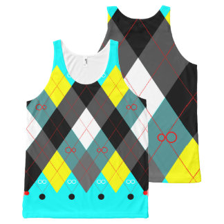 Argyle Revisited 7 All-Over-Print Tank Top