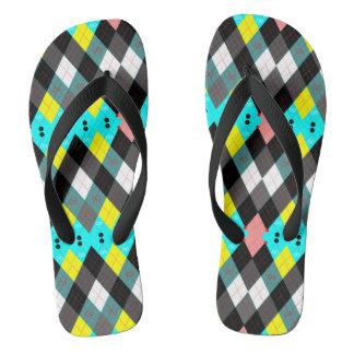Argyle Revisited 7 Flip Flops