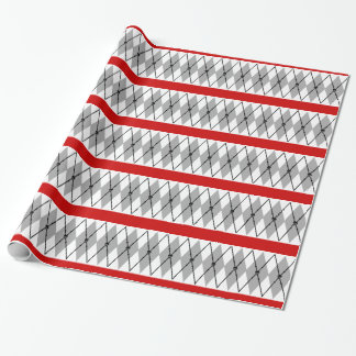 Argyle Skull And Crossbones Wrapping Paper