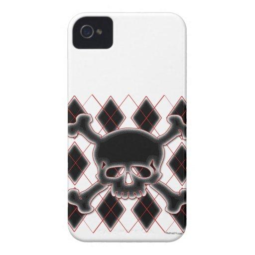 Argyle Skull Blackberry Cases